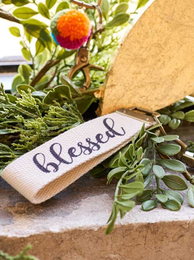 Blessed Canvas Keychain - Altar'd State