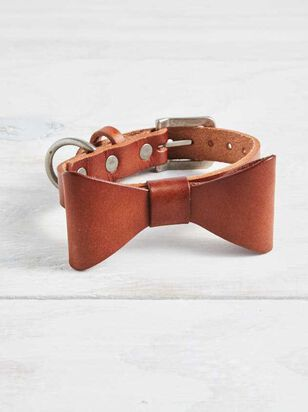 Bear & Ollie's Leather Bow Dog Collar - Small - Altar'd State
