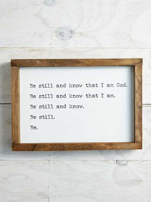 Be Still & Know that I am God Wall Art - Altar'd State