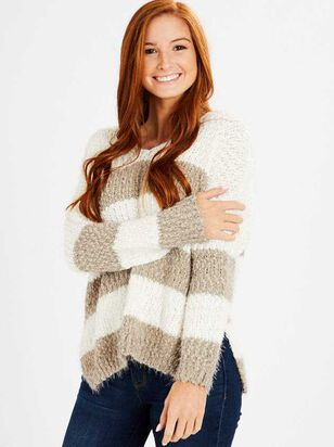 Lovely Lash Striped Pullover Sweater - Altar'd State
