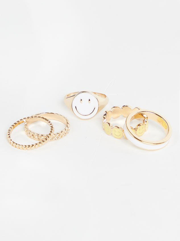 Because I'm Happy Ring Set - Altar'd State