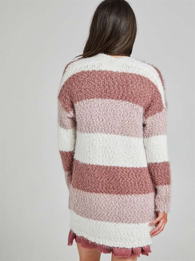 Lovely Lash Color Block Cardigan Sweater Detail 4 - Altar'd State