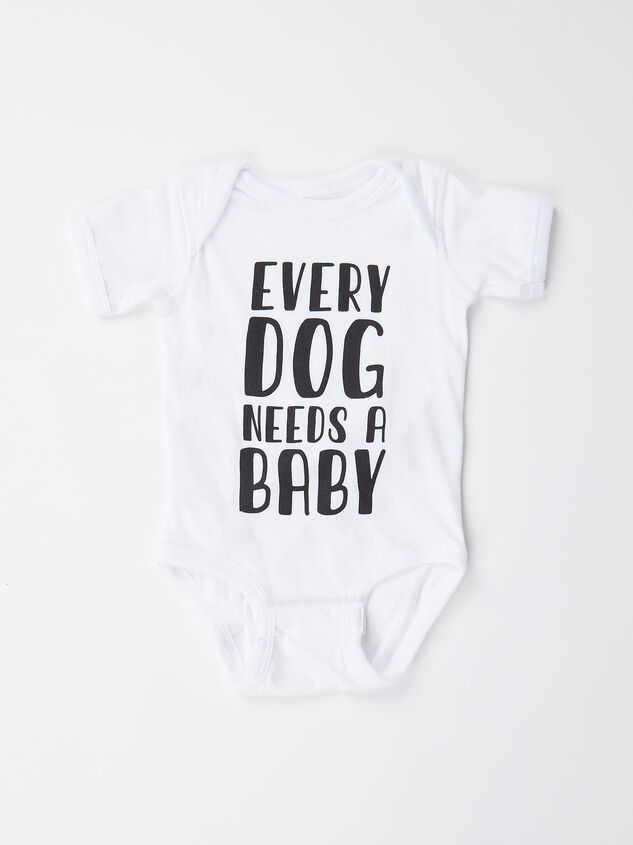 Tullabee Every Dog Needs a Baby Bodysuit Detail 1 - Altar'd State