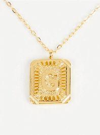 Burst Tag Monogram Necklace - G - Altar'd State