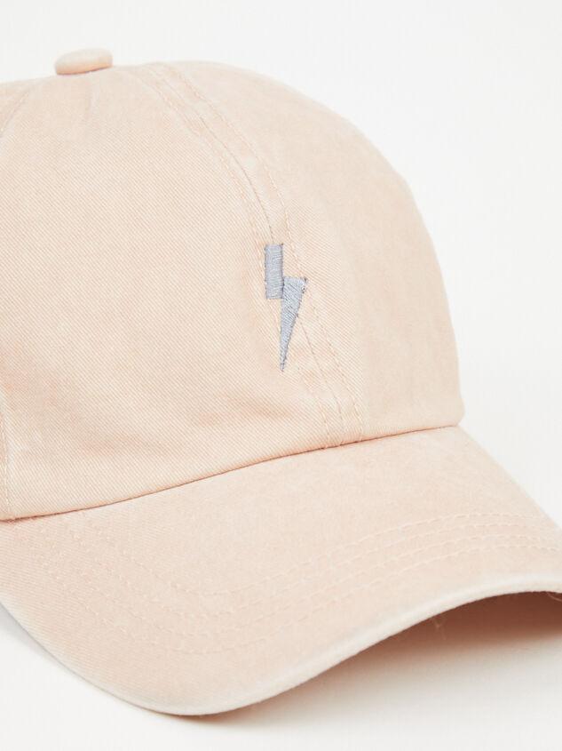 Lightning Bolt Baseball Hat Detail 3 - Altar'd State