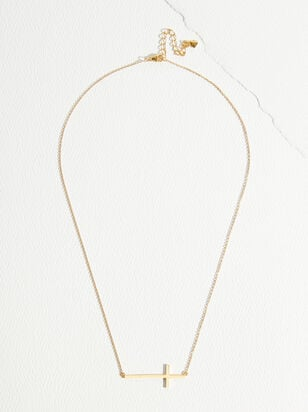 The Demi Fine - Victoria Cross Necklace - Altar'd State