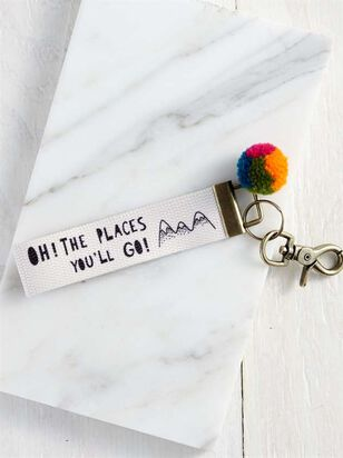 Oh The Places You'll Go Keychain - Altar'd State
