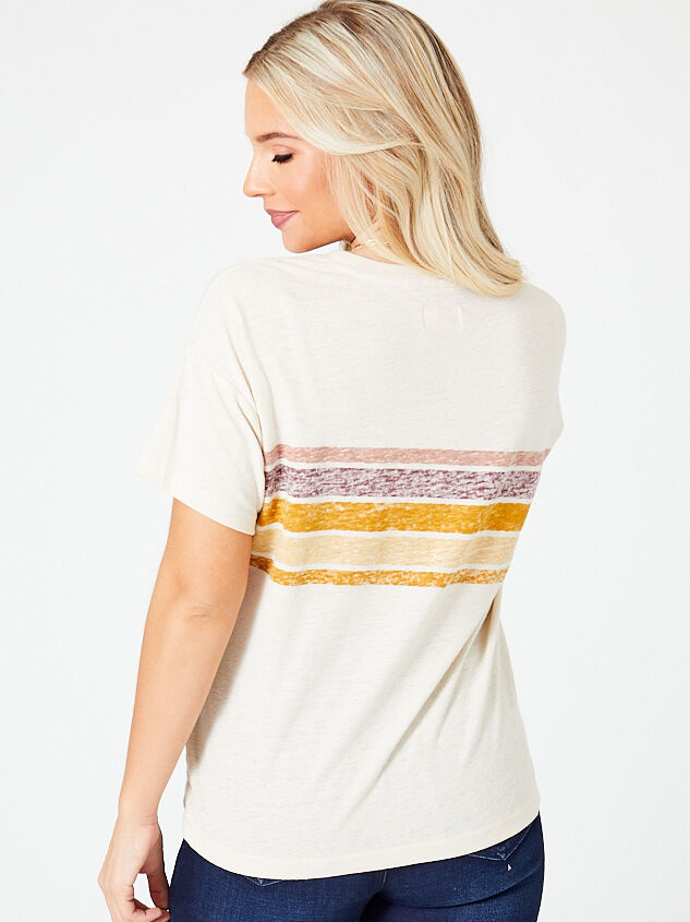 Dusty Sunrise Striped Tee Detail 3 - Altar'd State