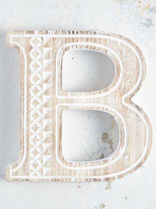 Wooden Monogram Letter Block - B - Altar'd State