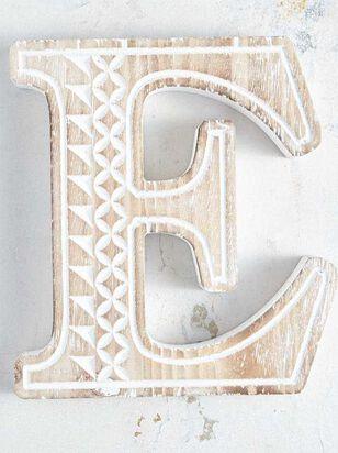 Wooden Monogram Letter Block - E - Altar'd State