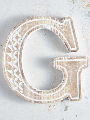 Wooden Monogram Letter Block - G - Altar'd State