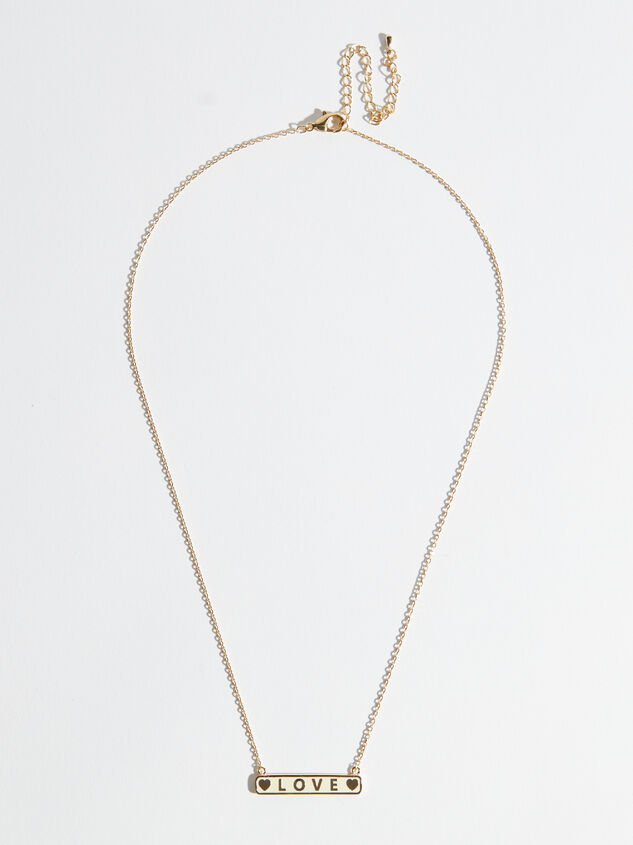 14k Gold Dipped Love Necklace Detail 2 - Altar'd State