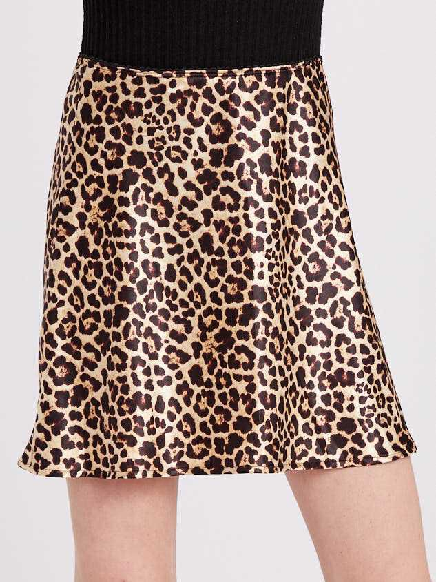 Leopard Satin Skirt Detail 2 - Altar'd State