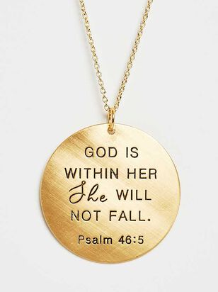 She Will Not Fall Pendant Necklace - Altar'd State