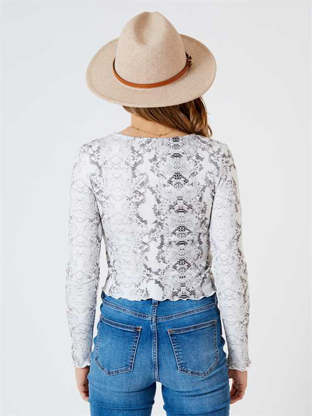 Chanel Long Sleeve Top - Snakeskin Detail 4 - Altar'd State