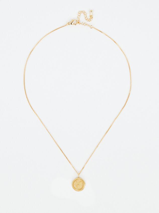 Medallion Monogram Necklace - M Detail 3 - Altar'd State