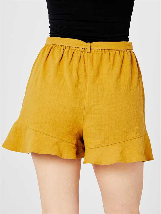 Leta Tie Waist Shorts Detail 4 - Altar'd State