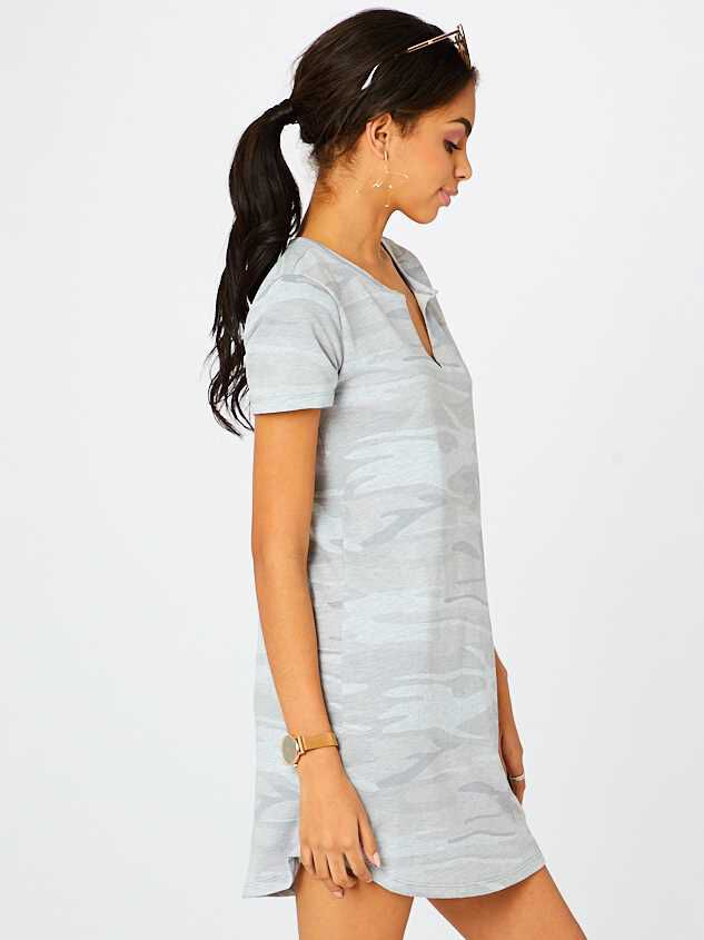 Camo T-Shirt Dress Detail 2 - Altar'd State
