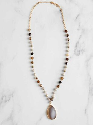 Agate Pendant Necklace - Altar'd State