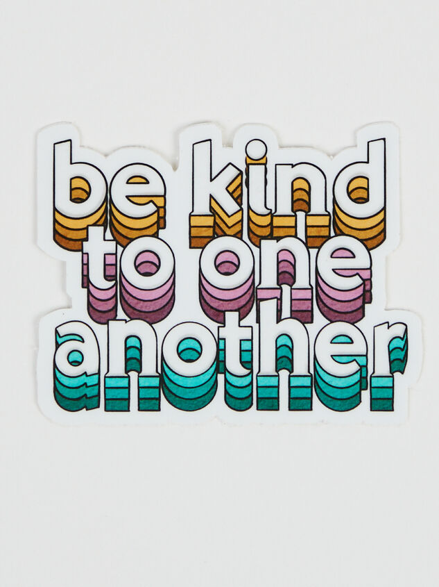 Be Kind to One Another Sticker Detail 1 - Altar'd State
