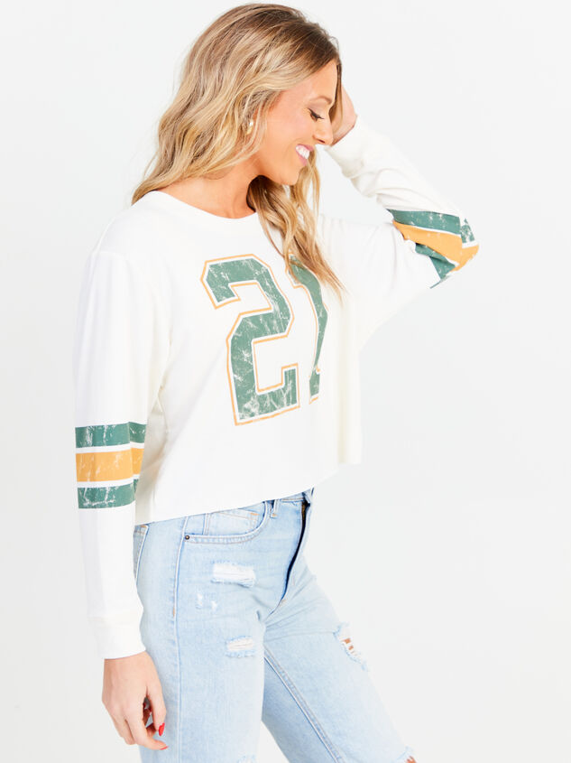 Jersey Cropped Long Sleeve Tee Detail 2 - Altar'd State