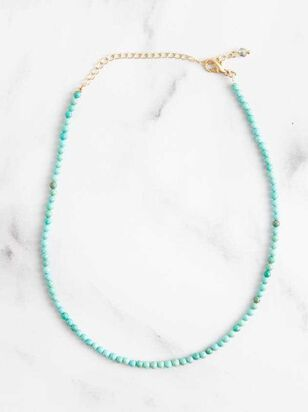 Natural Stone Turquoise Necklace - Altar'd State