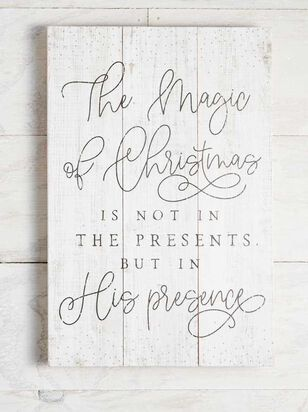 Magic of Christmas Pallet Sign - Altar'd State