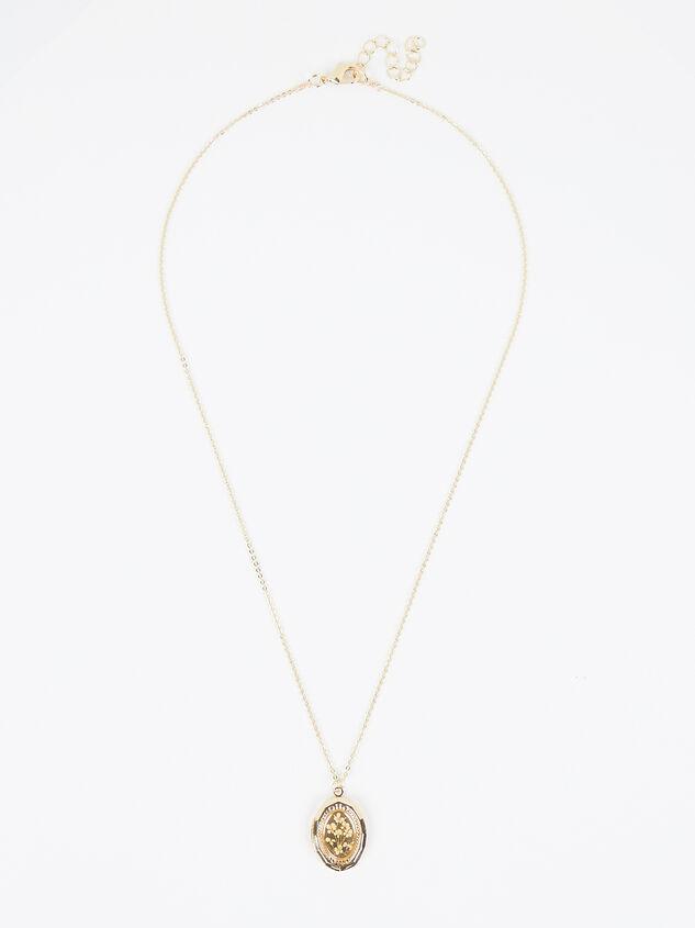 Dried Flower Locket Necklace Detail 2 - Altar'd State