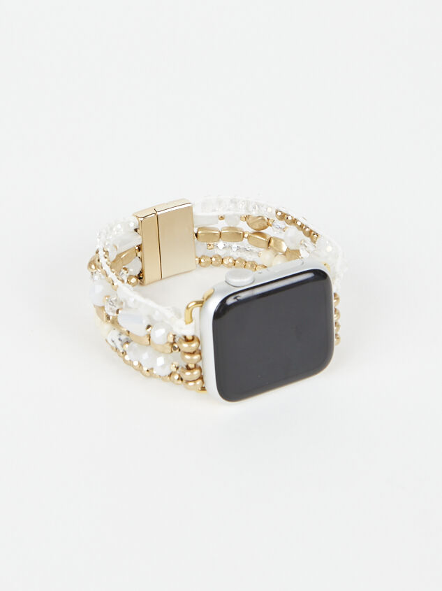 Neutral Beaded Smart Watch Band Detail 2 - Altar'd State