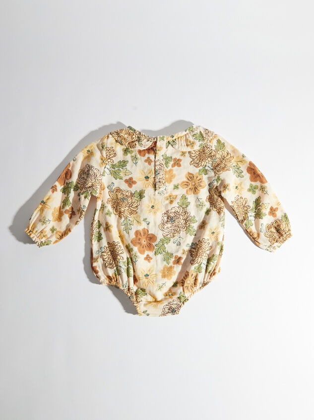 Tullabee Floral Ruffle Collar Bodysuit Detail 3 - Altar'd State