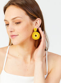 Katerina Earrings - Yellow Detail 2 - Altar'd State