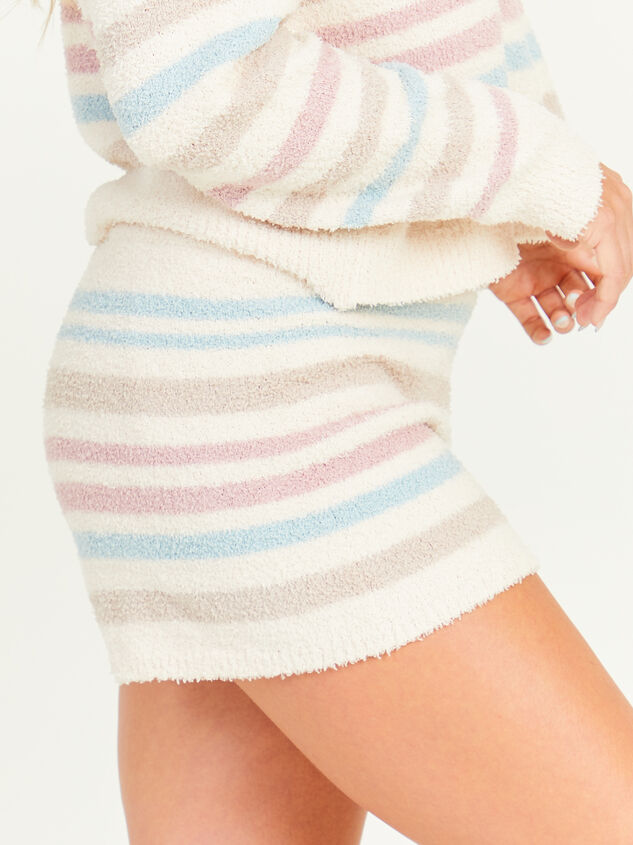 Striped Teddy Lounge Shorts Detail 3 - Altar'd State