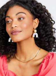 Rainbow Haven Earrings - White Detail 2 - Altar'd State