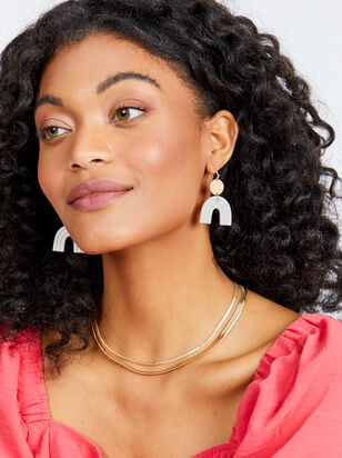 Rainbow Haven Earrings - White - Altar'd State