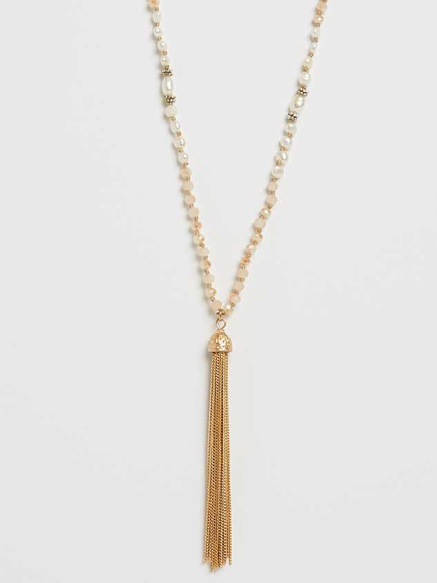 Lucy Tassel Necklace Detail 1 - Altar'd State