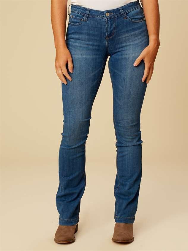 Metallic Boot Cut Jeans Detail 2 - Altar'd State