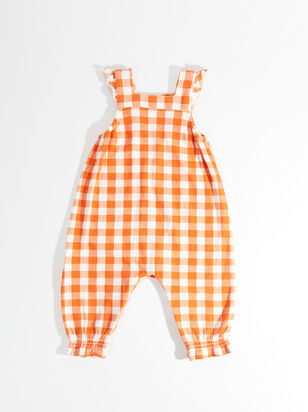 Tullabee Pumpkin Gingham Coveralls - Altar'd State