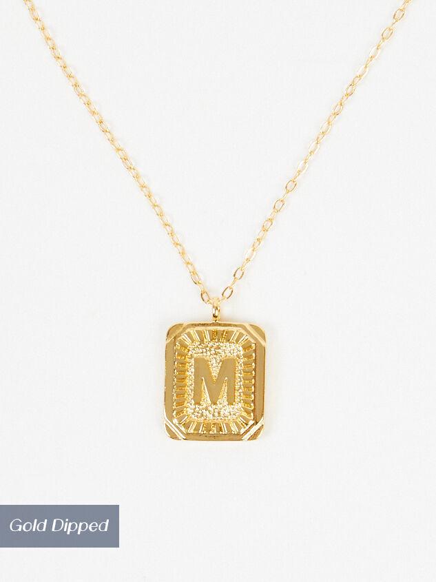 Burst Tag Monogram Necklace - M - Altar'd State