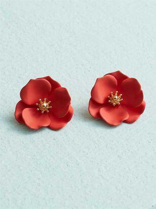 Flower Power Earrings - Red - Altar'd State