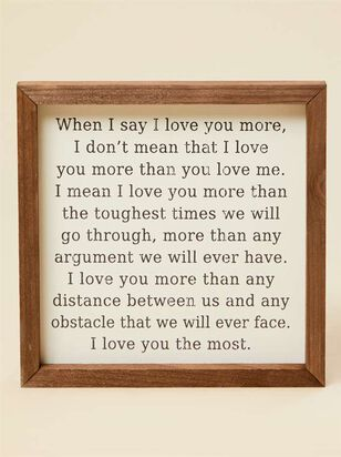 When I Say I Love You Wall Art - Altar'd State