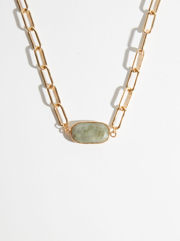Labradorite Paperclip Necklace - Altar'd State