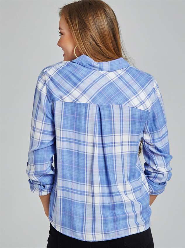 Leyden Plaid Top Detail 3 - Altar'd State