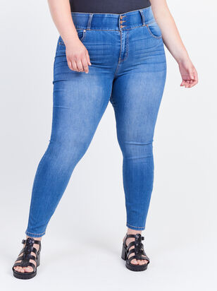 Waist Smoothing Skinny Jeans - Decoy - Altar'd State