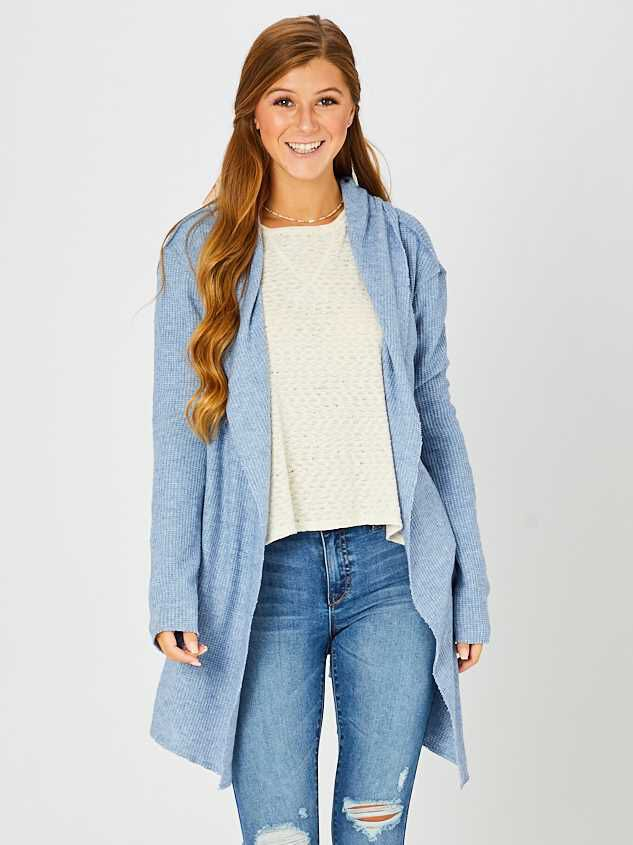 Waffle Knit Cardigan - Altar'd State