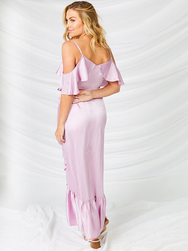 Ceres Satin Maxi Dress Detail 3 - Altar'd State