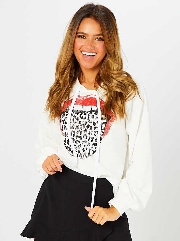 Talk about Leopard Cropped Hoodie Detail 2 - Altar'd State