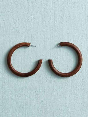 Wooden Hoop Earrings - Altar'd State