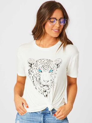 Snow Leopard Face Top - Altar'd State