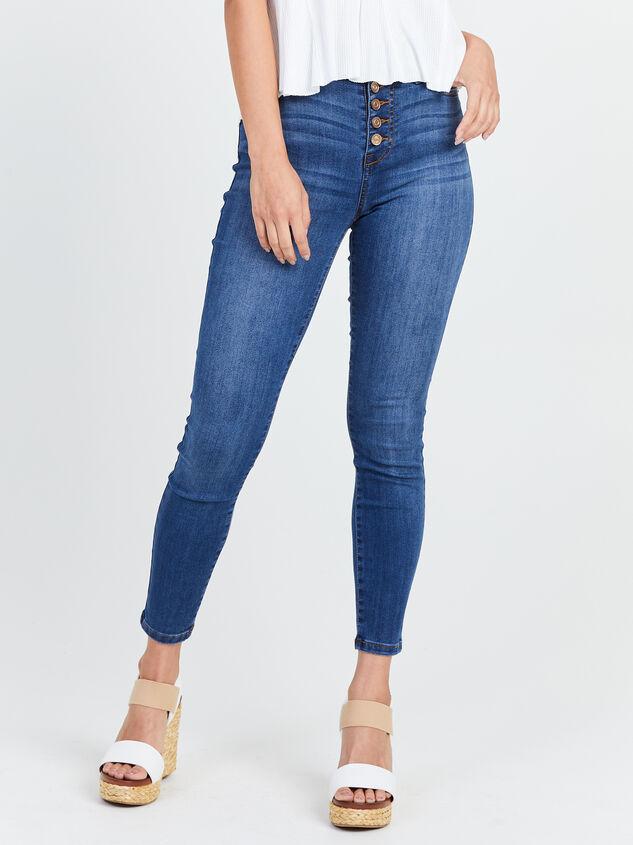 Feeling Groovy Skinny Jeans Detail 2 - Altar'd State