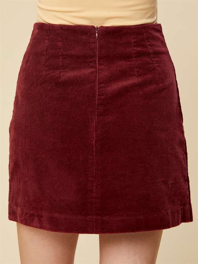 Cute as Button Cord Skirt Detail 3 - Altar'd State